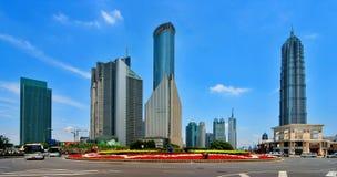 De bouw van Pudong Stock Afbeeldingen