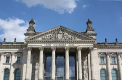 De Bouw van Reichstag Royalty-vrije Stock Foto's