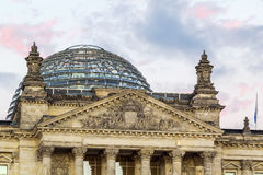 De Bouw van Reichstag, Berlijn Stock Afbeelding
