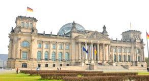 De Bouw van Reichstag in Berlijn, Duitsland Royalty-vrije Stock Fotografie