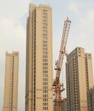 De bouw van Shanghai skyscrap Stock Afbeeldingen