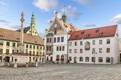 De bouw van Stadhuis in Freising, Duitsland Royalty-vrije Stock Afbeeldingen