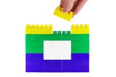De bouw van stuk speelgoed huis 1 stock afbeelding