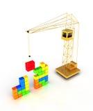 De bouw van Tetris vector illustratie