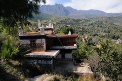De bouw van Tibetan Dorp Jiaju stock afbeelding
