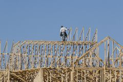 De bouw van timmerlieden royalty-vrije stock afbeelding