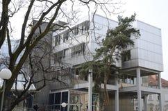 De bouw van universiteit Stock Foto's