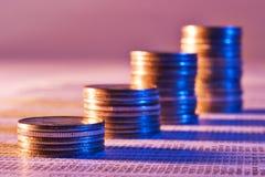 De bouw van uw financiële toekomst Stock Foto
