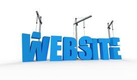 De bouw van uw website Stock Foto