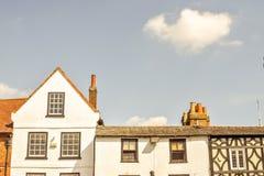 De bouw van voorgevel in Hitchin Hertfordshire Engeland royalty-vrije stock foto