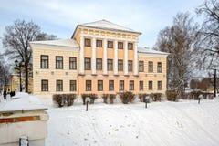 De bouw van vroegere Stadsdouma, Uglich, Rusland Stock Foto's