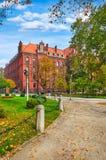 De bouw van Wroclawpolen van Metropolitaans Pauselijk Seminarie royalty-vrije stock fotografie