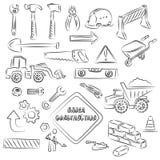 De bouw zingt en Hulpmiddelen vector illustratie