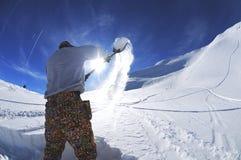 De bouwbarrières van Snowboard Royalty-vrije Stock Foto's