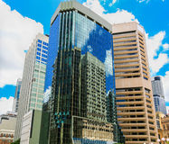 De bouwbezinningen, de Stad van Brisbane royalty-vrije stock foto