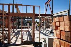 De bouwconstructie en de bouwconcepten van het huis Royalty-vrije Stock Fotografie