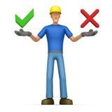 De bouwer biedt een keus van opties aan Stock Fotografie