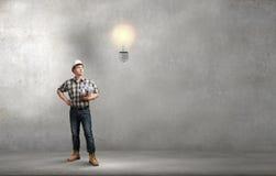De bouwer heeft een idee Royalty-vrije Stock Foto's