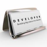 De Bouwer Software Application Programmer van ontwikkelaarAdreskaartjes Royalty-vrije Stock Afbeelding