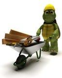De Bouwer van de schildpad met hulpmiddelen Stock Foto