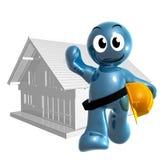 De bouwer van het huis en onderhoudspictogram Stock Afbeeldingen
