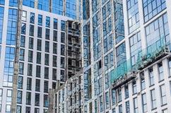 De bouwers herstellen voorgevel Stock Fotografie