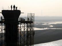 De Bouwers van de brug Stock Foto