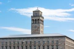 De Bouwflat Woonconstructi van Karlsruhe Volkswohnung Stock Afbeeldingen
