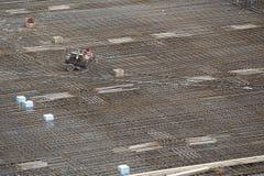 De bouwkader van het staal Stock Afbeeldingen