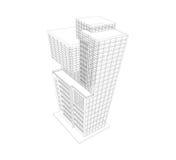 De bouwmodel wireframe vector illustratie