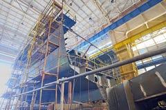 De bouw van het schip Stock Afbeeldingen