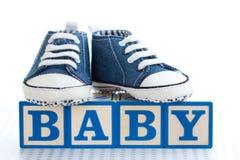 De bouwstenen van de baby stock foto's