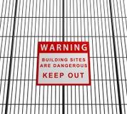 De bouwterreinen zijn gevaarlijk royalty-vrije illustratie