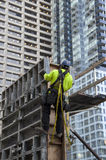 De bouwvakkerbouw royalty-vrije stock afbeeldingen