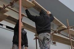 De bouwvakkersbouw steiger 2 royalty-vrije stock foto's