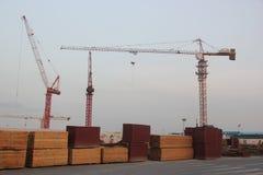 De bouwwerf in SHEKOU NANSHAN SHENZHEN Royalty-vrije Stock Foto
