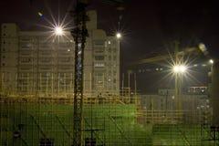 De bouwwerf van de nacht Stock Afbeelding