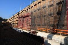 De bouwwerf van de tunnel Royalty-vrije Stock Fotografie