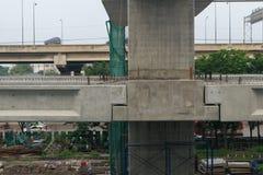 De bouwwerf van hemeltrein schrijft bangsue-Rangsit als krottengebied af Stock Fotografie