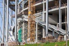 De Bouwwerf van het stadion Stock Foto