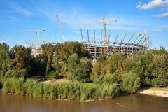 De Bouwwerf van het stadion Stock Afbeeldingen