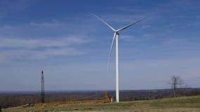 De bouwwerf van het windlandbouwbedrijf Stock Foto's