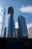De bouwwerf van het World Trade Center Stock Foto's