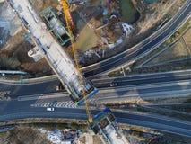 De bouwwerf van de de hoge snelheidsspoorweg van China Royalty-vrije Stock Foto's
