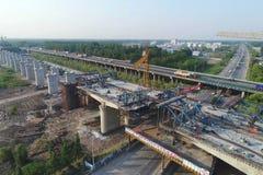De bouwwerf van de de hoge snelheidsspoorweg van China Stock Illustratie