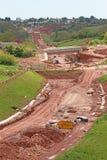 De bouwwerf van de wegomleiding royalty-vrije stock afbeeldingen