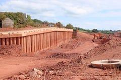 De bouwwerf van de wegomleiding royalty-vrije stock fotografie