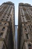 De bouwwerken in Drievuldigheid St New York, de Verenigde Staten van Amerika stock afbeeldingen