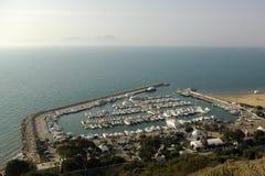 De bovengenoemde jachthaven van Sidi bou Royalty-vrije Stock Foto's