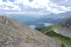 De bovenkant van de berg Stock Foto's